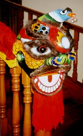 A toy Barongsai which children love to play with